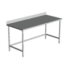 "1 1/2 REAR SPLASH OPEN BASE WORK TABLE 30"" Wide"