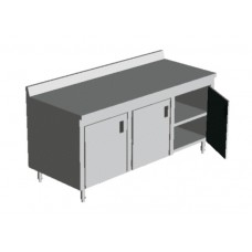 ENCLOSED BASE TABLES with DOORS WITH MIDDLE SHELF