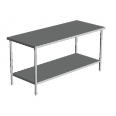 "FLAT TOP WORK TABLE 24"" WIDE 16 Ga s/s"