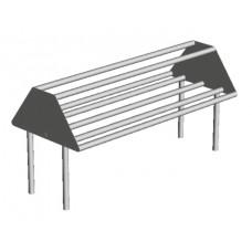 TUBULAR SORTING SHELVES TABLE MOUNTED