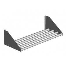 TUBULAR WALL MOUNTED DRAINAGE SHELVES